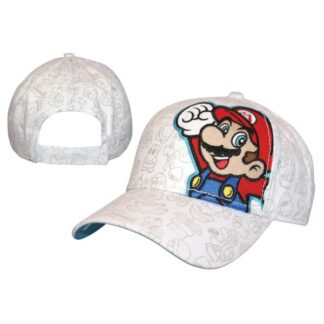 Adjusteble Cap White Mario Embroidery