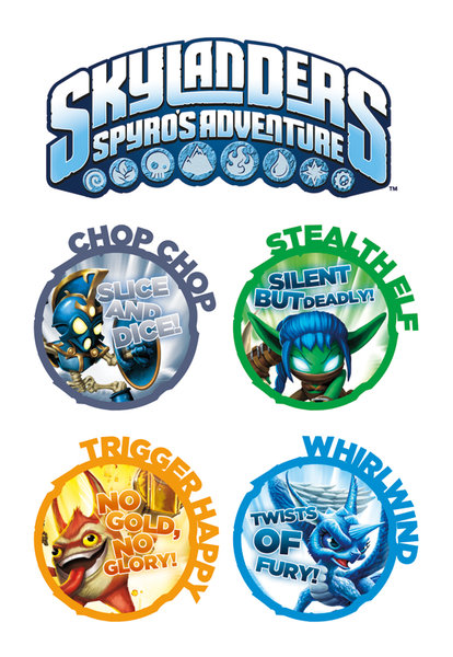 Skylanders Tattoo Pack