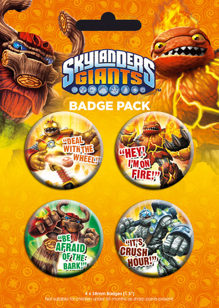 Skylanders Pin Badges