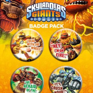 Skylanders Giants Pin Badges