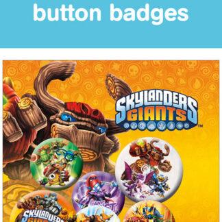 Skylanders Giants Buttons 6 Pack