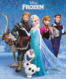 Frozen Group Mini Poster 50 x 40cm