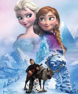 Frozen Collage Mini Poster 50 x 40cm