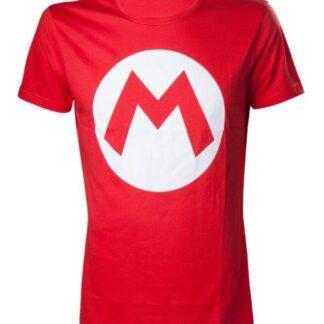 """Nintendo - Mario T- Shirt With Big M """"maat L"""""""