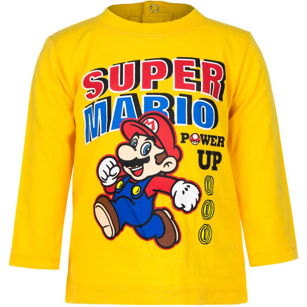 """Super Mario baby t-shirt lange mouw Geel """" 12 maanden"""""""
