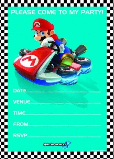 Super Mario uitnodigings-kaarten