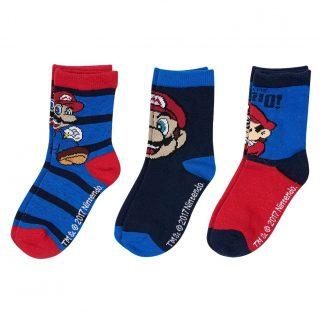 Nintendo - Super Mario sokken 3 pack gestreept maat 31-34