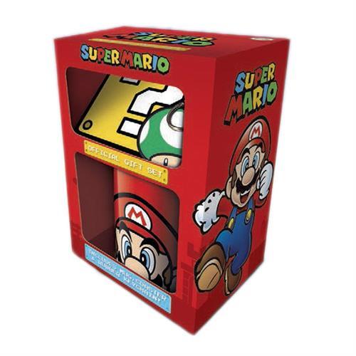 Super Mario giftset inclusief beker, onderzetter en sleutelhanger!